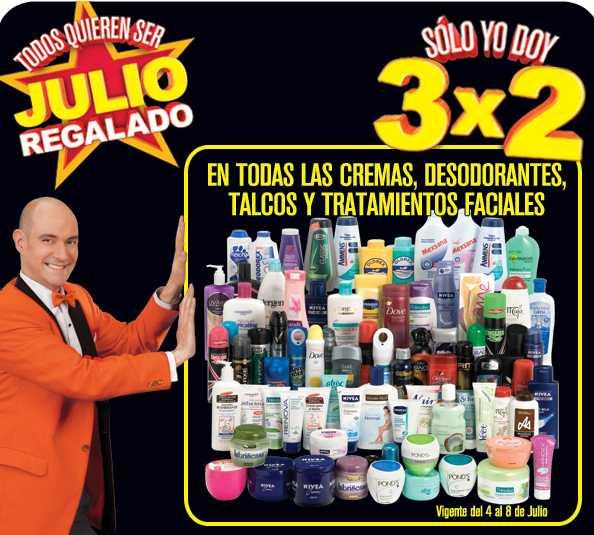 Julio Regalado julio 4: 3x2 en cremas, desodorantes, talcos y más