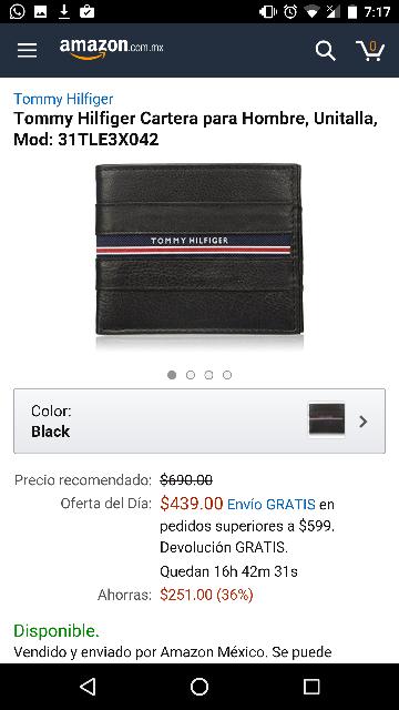 Amazon: Cartera Tommy Hilfiger modelo 31TLE3X042 (oferta del día)