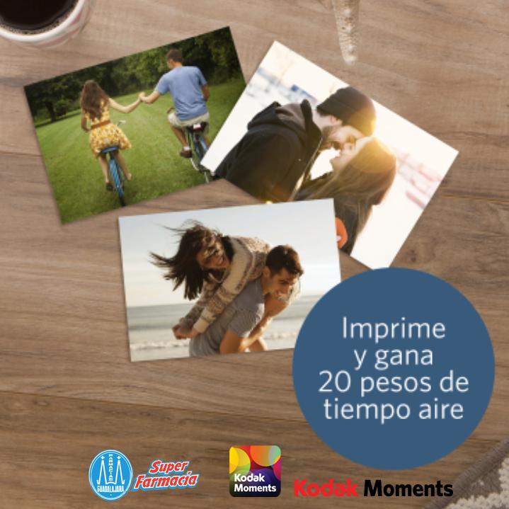 Farmacias Guadalajara: $20 de tiempo aire al imprimir 10 fotos con app