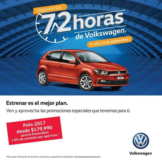 Volkswagen: 72 horas de Promociones.