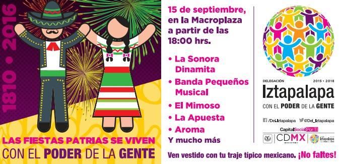 CDMX: Algunos de los carteles para el grito de independencia en las delegaciones CDMX