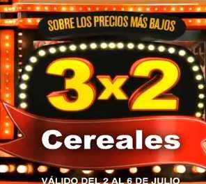Julio Regalado jullio 2: 3x2 en todos los cereales