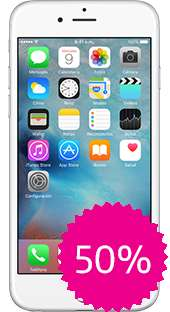 Movistar: iPhone 6 128GB Color Plata a $7,999