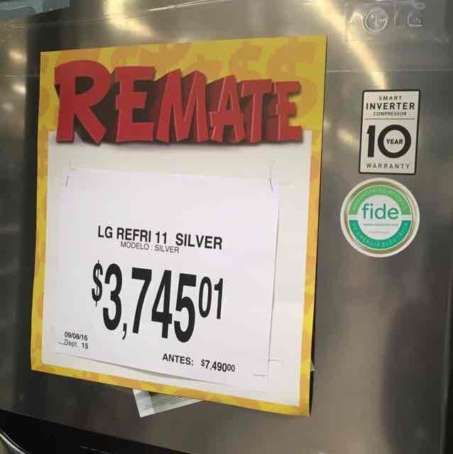 Bodega Aurrerá  Dorada Puebla: Refrigerador LG de 11 pies silver a $3,745.01