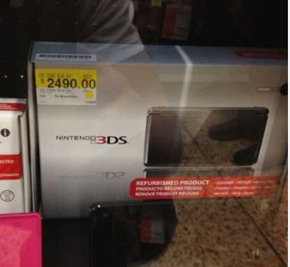 Bodega Aurrerá: Nintendo 3DS reacondicionada a $2,490