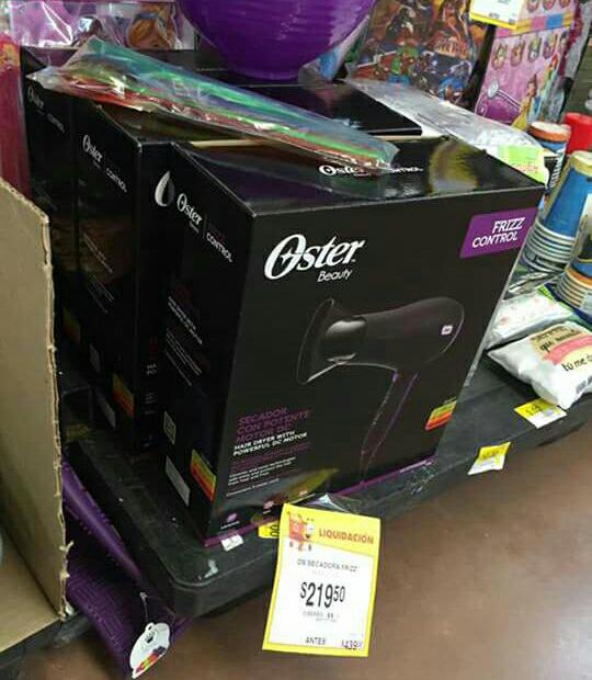 Walmart 3er Anillo Colima: secadora Oster Beauty Frizz Control a $219.50