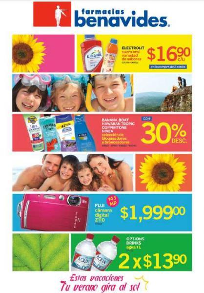 Folleto Farmacias Benavides: 30% de descuento en cosméticos Maybelline, 3x2 en Secret y más
