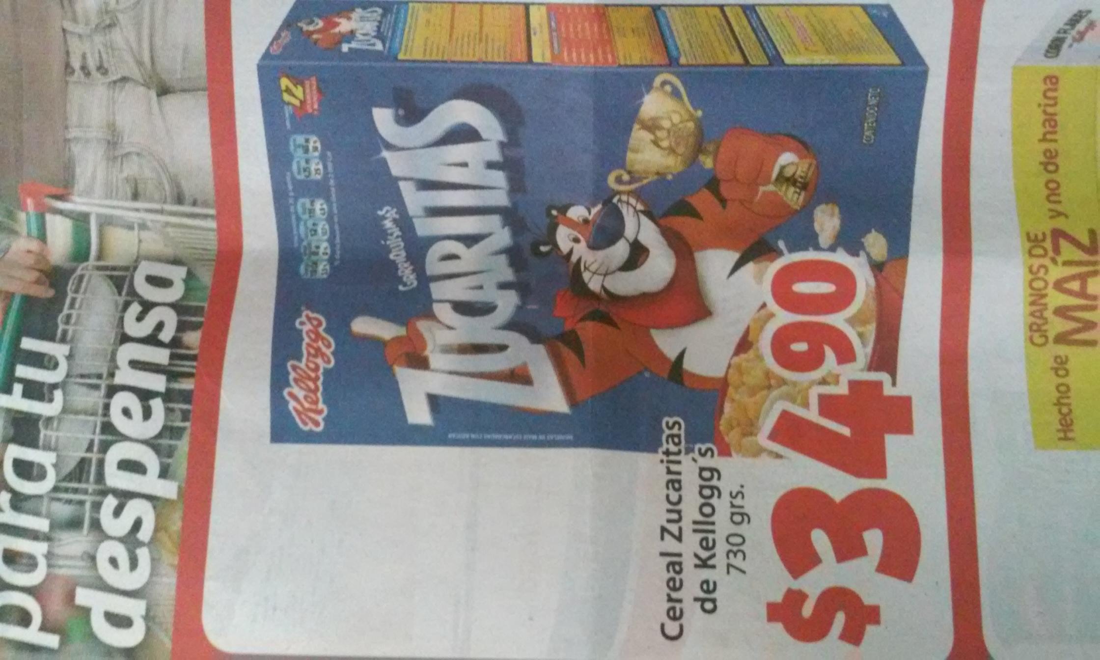 Soriana Mercado: Zucaritas 730 grs a $34.90
