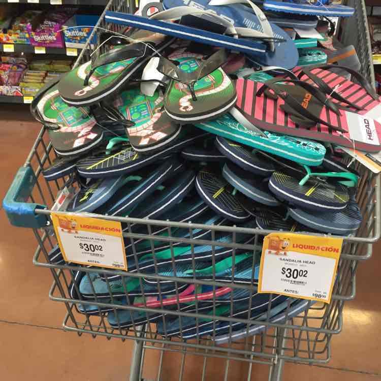 Walmart Cordilleras Chihuahua: sandalia Heard a $30.02