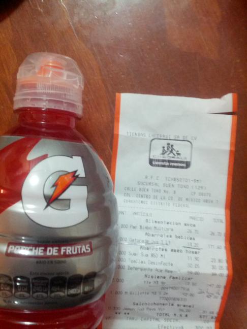 Chedraui: Gatorade 1Lt a $13