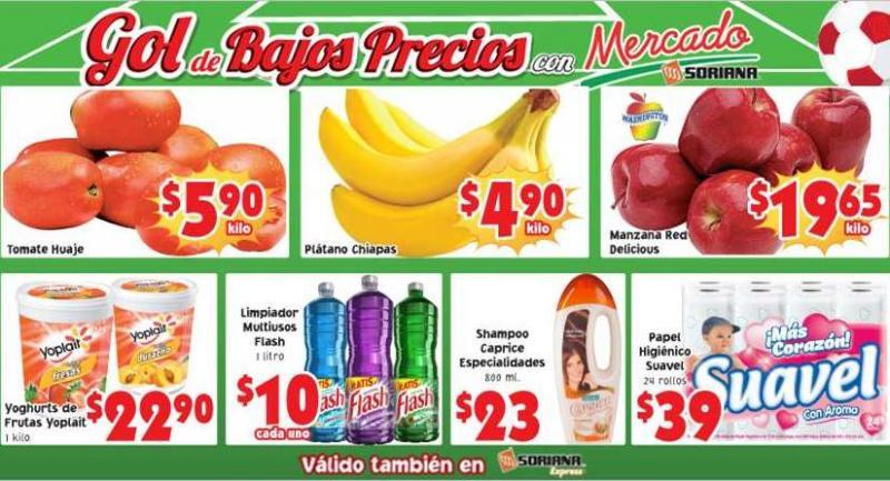 Ofertas de frutas y verduras en Soriana julio 1 y 2