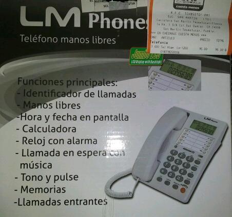 Chedraui: Telefono con identificador de llamadas y manos libres