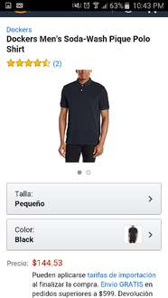 Amazon: Playeras polo marca Dockers desde $125