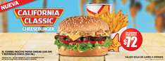 Carl's Jr.: combo chico de California Classic Cheeseburger por $72