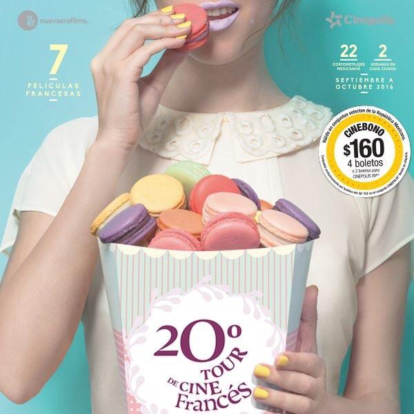 Cinépolis: 4 boletos por $160 para el tour de Cine Francés