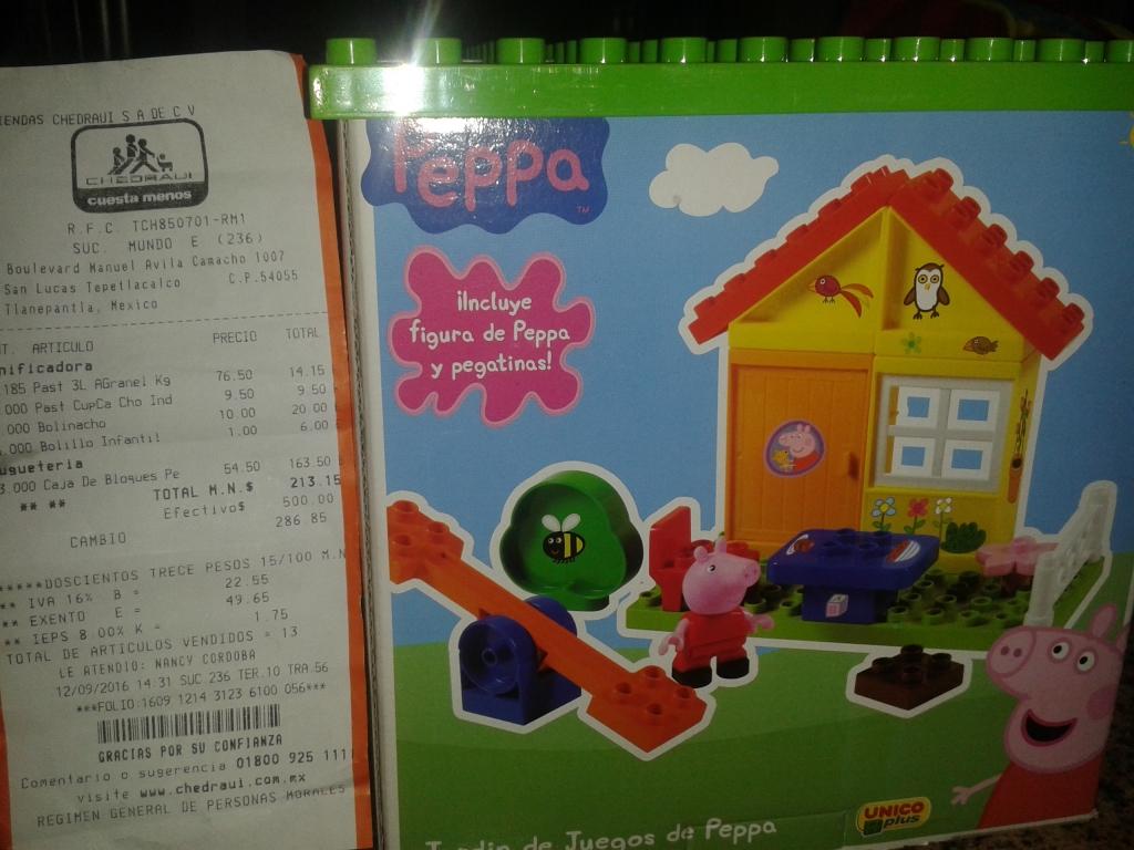 Chedraui Mundo E: caja de bloque de Peppa Pig a $54.50