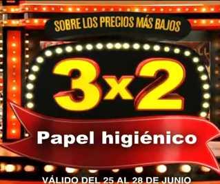Julio Regalado junio 25: 3x2 en papel higiénico