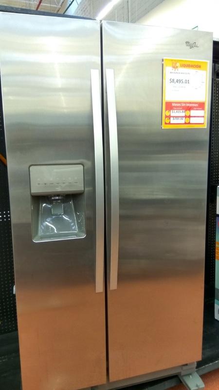 Walmart Plaza Oriente: Liquidación Refrigerador Whirlpool Duplex a $8,495.01