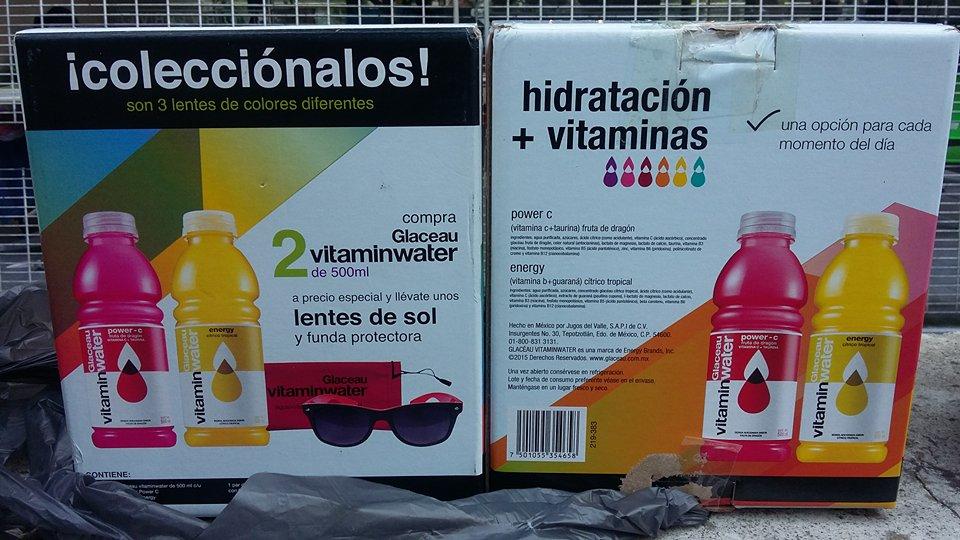 Walmart Buenavista: 2 Vitamin Water + lentes oscuros por $16.01