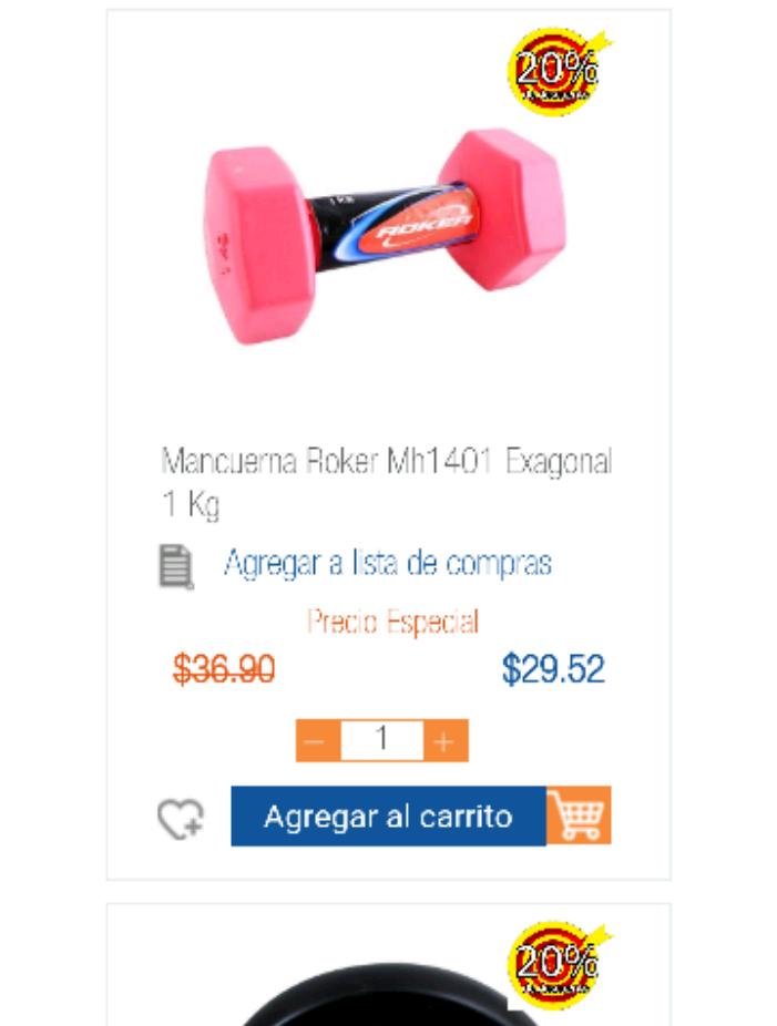 Chedraui Mérida: mancuerna Roker Mh1401 Exagonal 1 K con descuento a $29.52, Vanish 600ml a $2.90