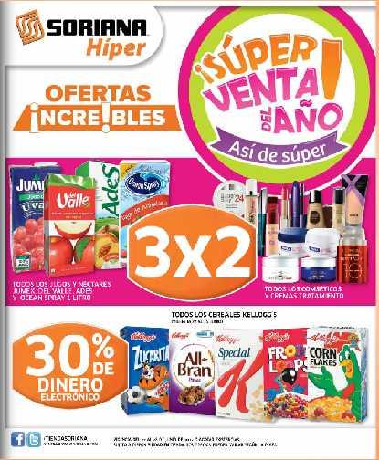 Super Venta del año Soriana: 3x2 en cosméticos, vinos, jugos, papillas y más