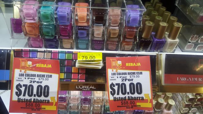 Walmart: Esmaltes Loreal a 2 x $70