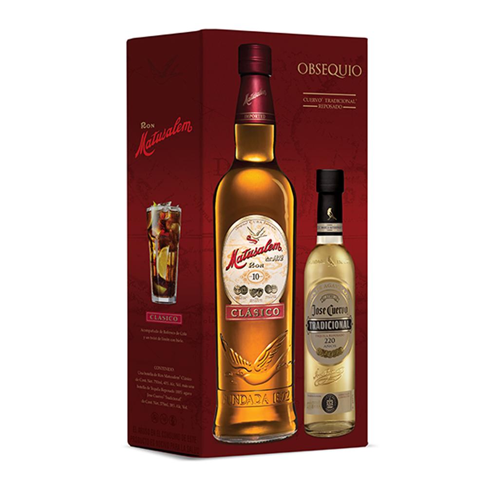 Superama en línea: Paquete ron Matusalem clasico 750 ml + tequila Jose Cuervo 375 ml