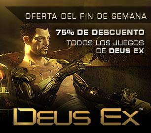 Steam: Deus Ex a $2.49 dólares y Deus Ex: Human Revolution a $7.49