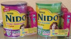 Superama: Paquetes Nido Kinder + pack 4 Gerber pouch y Nido Escolar+ pack 4 Gerber pouch a $63.01