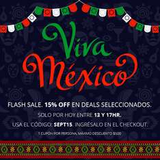 Groupon: Flash Sale 15% Off en Deals Seleccionados