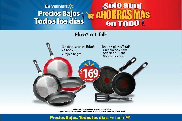 Walmart: juego de dos sartenes y pala T-fal a $169 y más