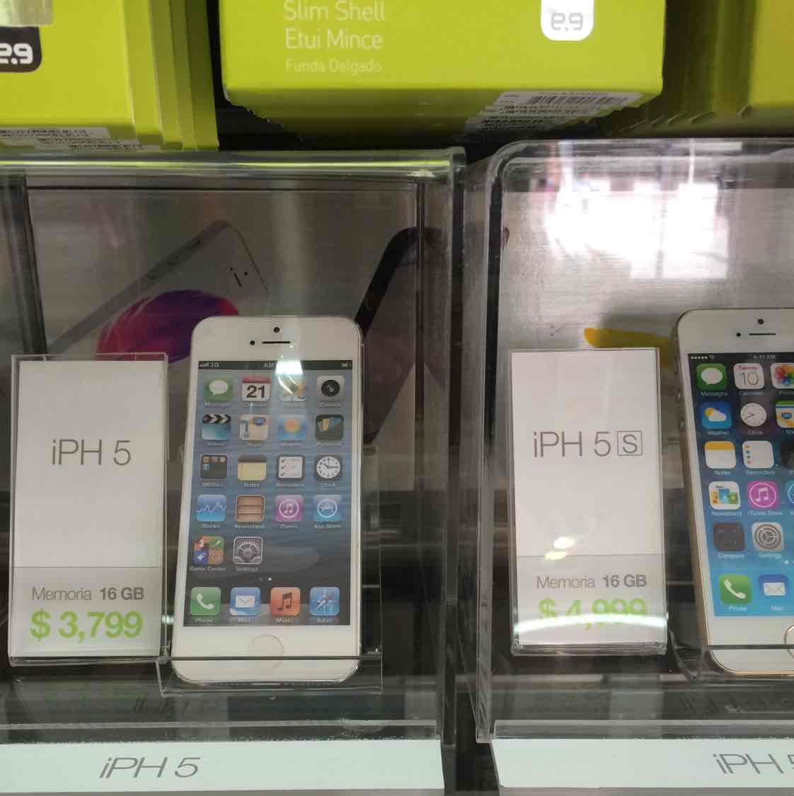 iPhone 5 y 5s en tiendas físicas Mobo