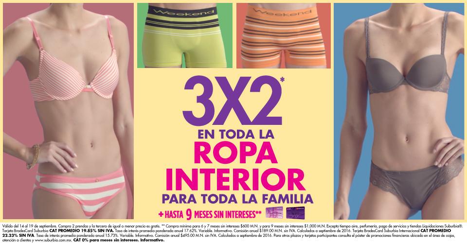 Suburbia: 3x2 en ropa interior para toda la familia