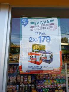 Oxxo: 2 x 12 pack Indio, Tecate, Tecate light × $179