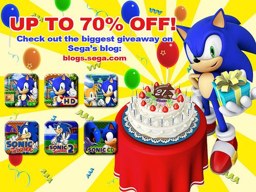 Descuento en juegos de Sonic en Xbox Live, iTunes, Google Play y PlayStation Network