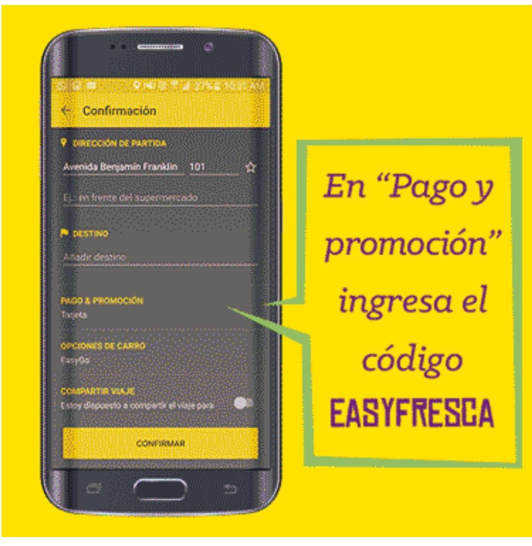Easy Taxi: $100 gratis con código (EASYFRESCA) CDMX