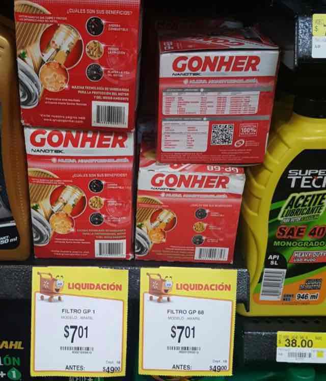 Walmart Cd. del Carmen Filtro Gohner GP1-GP68