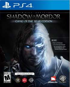 Amazon: Shadow of Mordor GOTY para PS4