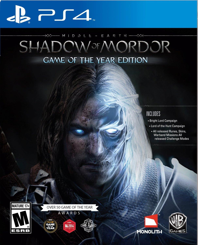 Amazon: Shadow of Mordor GOTY para PS4
