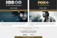 1 mes de HBO GO y Fox+ por $1 (computadora, Android, iPhone, Xbox)