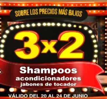Julio Regalado junio 20: 3x2 en shampoos y acondicionadores