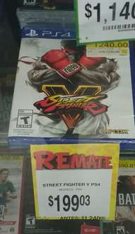 Bodega Aurrerá: Street fighter V PS4 de $1,200 a $199.03