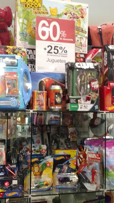 Sanborns: 25% descuento adicional en lo ya rebajado en juguetería
