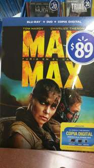 Walmart: Mad Max Fury Road, Bluray +DVD +Copia Digital