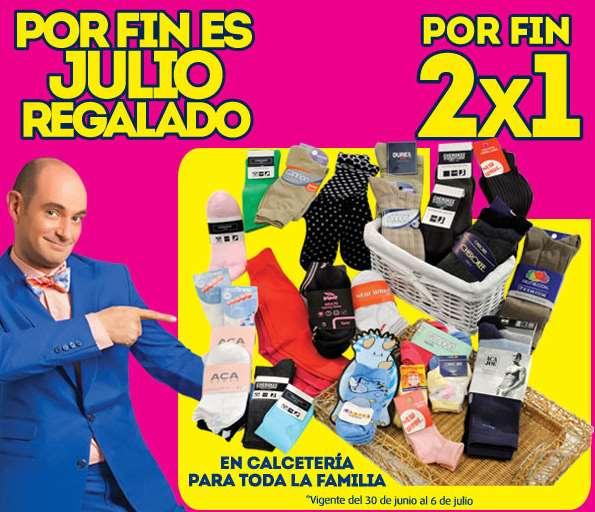 Ofertas Julio Regaldo en La Comer: 2x1 en calcetería