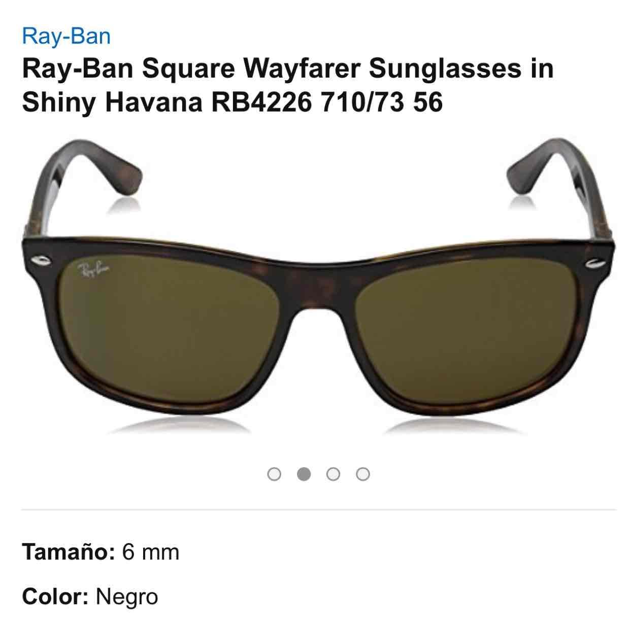 Amazon MX: lentes Ray-Ban Wayfarer a $1,799