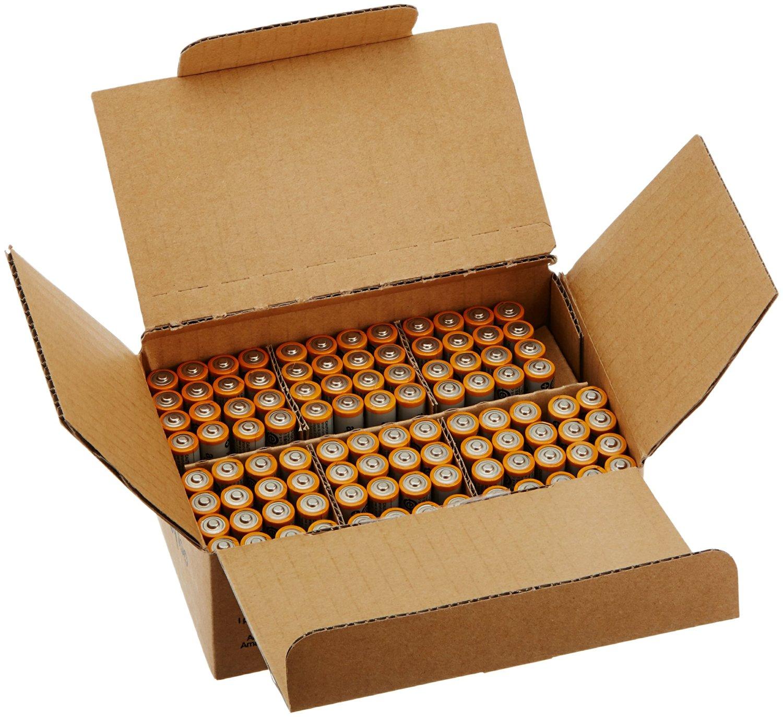 Amazon: Baterías AAA AmazonBasic, paquete de 100