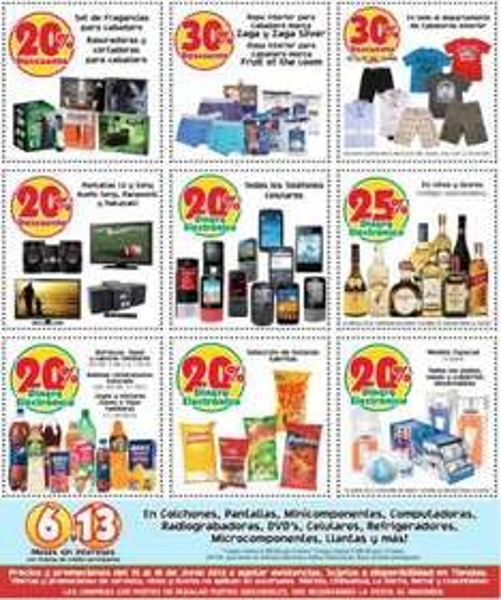 Mercado Soriana: 25% en dinero electrónico en vinos y licores, 20% en celulares, botanas y más