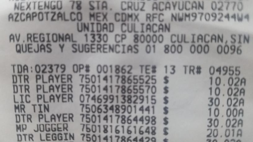 Walmart Culiacán: ropa de liquidación