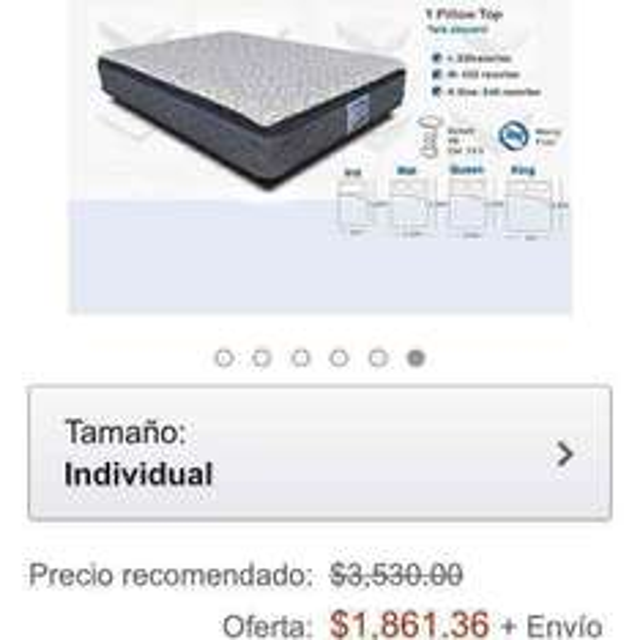 Amazon: colchon restronic modelo milan individual